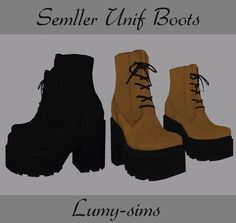 Semller Unif Boots at Lumy Sims via Sims 4 Updates