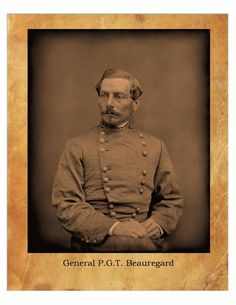P.G.T Beauregard Civil War General Confederate States  8X10 Photo