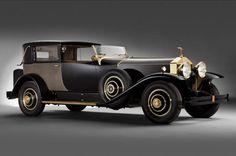 '29 Rolls-Royce Springfield Phantom I Riviera Town  Carrosserie Brewster & Co Placage Or et Cannage Un Must de années '30
