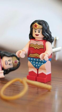 Wonder Woman one pair only by GeekLinks on Etsy. Lego Dc 632d3442ba5dc