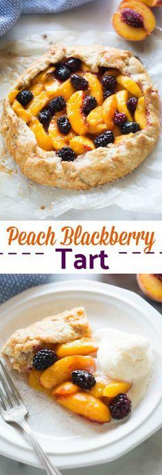 Peach Blackberry Tart   tastesbetterfromscratch.com