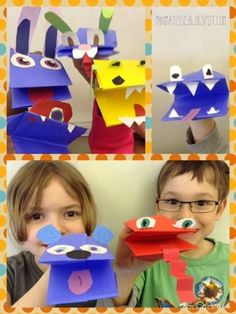 Puppets- Made in Art Class, Singing in Music Class