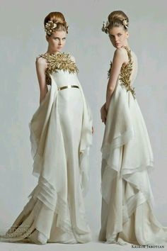 To know more about krikor jabotian krikor jabotian bridal fall 2012 2013 gold ivory wedding dress, visit Sumally, a social network that gathers together all the wanted things in the world! Party Mode, Roman Fashion, Mode Inspiration, Beautiful Gowns, Couture Fashion, 80s Fashion, London Fashion, Fashion Art, Style Fashion