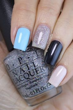 Hey Dolls! You knew it was coming right? I HAD to create a Breakfast at Tiffany's skittle mani with the new OPI collection! You can see the swatches of the full collection here. On my pointer finger
