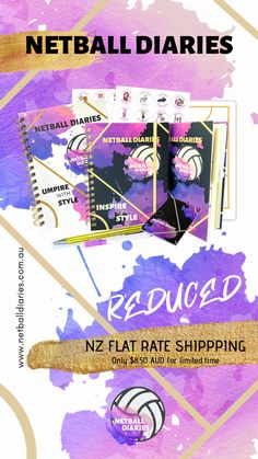 Netball Diaries Reduced Flat Rate Shipping to New Zealand Netball Court Dimensions, Netball Coach, Coach Gifts, Training Plan, Flat Rate, Virtual Assistant, Diaries, New Zealand