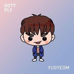 And finally uri maknae, Yugyeom gotoon inspired! ^^ #gotoon #yugyeom #got7 #got7yugyeom #got7fly #갓세분 #유겸 @yu_gyeom