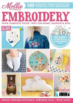 We Love Craft brings to you the Mollie Makes Embroidery 2017 issue!  Packed with 149 inspiring ideas & motifs for everyone, even beginners!  Including Nina Dyer's sweet alphabet baby banner, Sabina Gibson's beautiful polar bear and funk up your shoes with Foss & Mischief's geometric update for your trainers.  Our handy five-page section showcases all the stitches used in our projects, with clear instructions and illustrations.