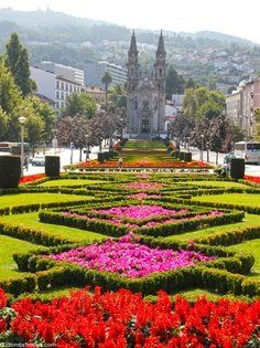 Take a walking tour of Guimaraes, a charming medieval town in the north of Portugal, and see what this city has to offer! Beautiful Places To Visit, Oh The Places You'll Go, Beautiful World, Beautiful Gardens, Places To Travel, Beautiful Flowers, Spain And Portugal, Portugal Travel, Lisbon Portugal