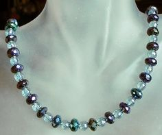 Black and Clear Necklace  Black Faceted Spinal and by camexinc, $40.00