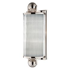 Small Washington Bath Bracket   Wall Sconce, Polished Nickel from barnlightelectric.com Comes in three sizes.