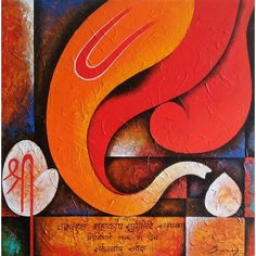 abstract paintings lord ganesha - Google Search