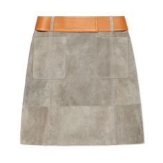 Derek Lam Suede Skirt - Shop more fall chic pieces at ShopBAZAAR.com http://shop.harpersbazaar.com/in-the-magazine/give-it-the-boot/