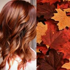 Copper red ombre/balayage hair