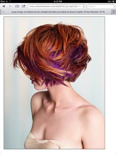 Reds and purple hair color
