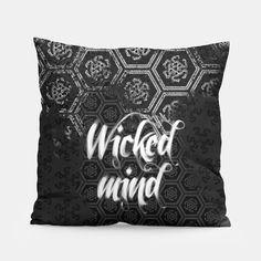 High-functioning Sociopaths Gothic Home Decor, Gothic House, Unique Image, Simple House, Pillow Design, Home Decor Items, Witch, Hero, Throw Pillows