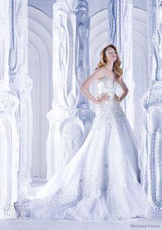 michael cinco spring 2013 strapless wedding dress