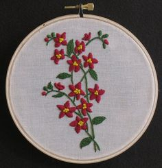 pretty little posie #embroidery #hoopla