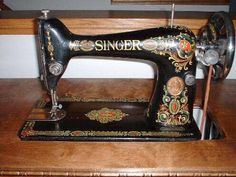 Antique Singer Sewing Machines   These are some close-ups of the machine so you can see the detail. As ...