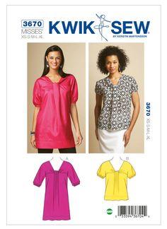 K3670 | Kwik Sew Patterns | Sewing Patterns
