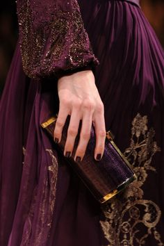 Amazing fashion and haute couture encompassing all the purple shades of the spectrum from soft lilac and lavender to royal purple, plums and aubergine tones! Purple Gold, Deep Purple, Deep Burgundy, Burgundy Wine, Purple Flowers, Magenta, Vino Color, Satin Duchesse, Shades Of Burgundy