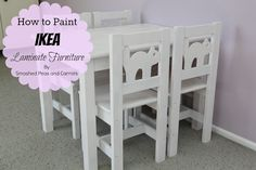 Smashed Peas and Carrots: How to Paint Ikea Laminate Furniture-TUTORIAL