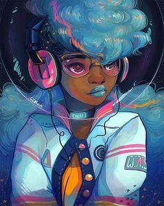 Afropunk art by GDBee