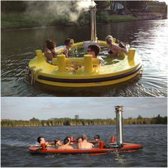 This hot tub tug boat will make your next camping trip by the lake AMAZING! #summer
