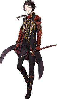c096323b Otaku Anime, Anime Art, Samurai Anime, Touken Ranbu Characters, Graphic Novel Art, Female Knight, Handsome Anime Guys, Jotaro Kujo, Manga Boy