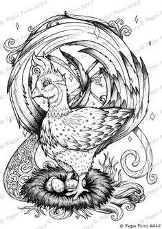 Pheasantastic Adult Coloring Book Page Pheasant Kawaii Instant Download Digital File