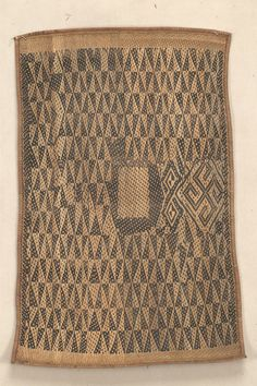 Africa | MAT AFRICAN ETHNOGRAPHIC COLLECTION Catalog No: 1 / 6977 Culture: BOMA Locale: LOWER CONGO Country: CONGO FREESTATE Material: PLANT FIBER Dimensions: L:73 W:45 [in CM] Acquisition Year: 1904 [PURCHASE] Donor: WILLIAMS