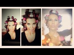 ♥ Big Bouncy Curls ♥ Hot Rollers + Spin Pins Tutorial