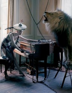 "Karen Elson in ""The Lion King"" by Tim Walker for Love Magazine n.10 Fall Winter 2013-2014"