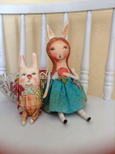 Alice and that Rabbit made to order by PBsArtStudio on Etsy, $225.00