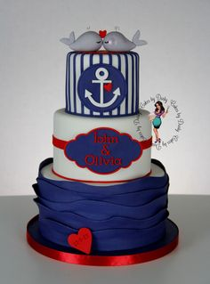 Find This Pin And More On Cakes   Nautical By MayaBassan.
