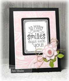 Smiles, hand doodled card by Jen Shults using Taylored Expressions stamps and dies. #zentangle