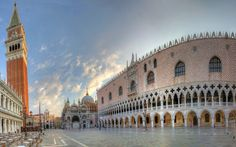 Mark's Square the Doge's Palace St. Mark's Basilica Venice city landscape home wall modern art decor wood frame poster Venice Wallpaper, Wallpaper World, Of Wallpaper, Computer Wallpaper, Venice Tours, Venice Travel, Venice Cafe, Italy Honeymoon, Italy Holidays