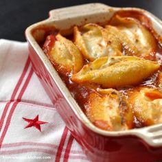 From-Snuggs-Kitchen ... mit Liebe handgemacht: Donnas gefüllte Muschelnudeln