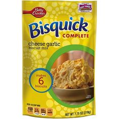 Betty Crocker Bisquick Complete Mix Cheese Garlic Biscuits: 2 grams trans fat per serving (1/3 cup mix)