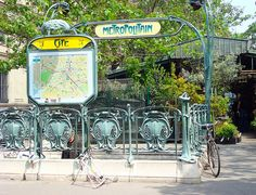Paris, Cité Metro Entrance, Hector Guimard Design