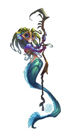 2D Bean artblog- Concept art, visual Development, Doodles, and Illustrations of Brett Bean: Mermaid