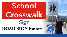 What To Do At a School Crosswalk Sign When Pedestrians Are Crossing