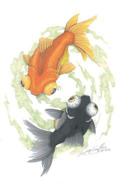Ying and Yang Goldfish (PRINT)
