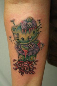 Hello Kitty Zombie Tattoo by ~RoxieHart on deviantART