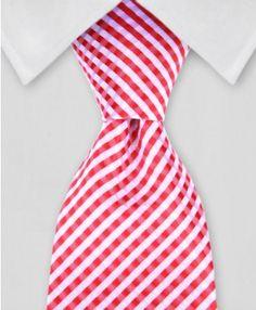 TieMart Boys Merlot Solid Color Necktie