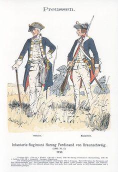 Band XVIII #53.- Preußen. Infanterie-Regiment Herzog Ferdinand von Braunschweig. 1757.