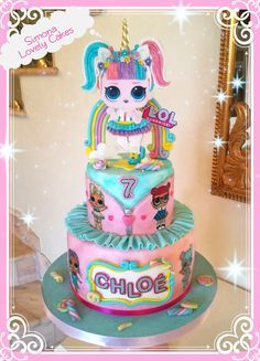 Disney's UP Themed Birthday Party - One Charming Day Little Girl Birthday Cakes, Funny Birthday Cakes, Barbie Birthday, Bday Girl, Birthday Party Themes, 7th Birthday, Unicorne Cake, Cupcake Cakes, Lol Doll Cake