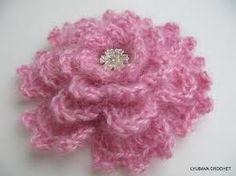 crochet flower accessories - Google Search
