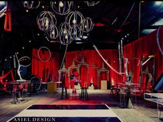 Almost want this for my wedding...almost....Dark Circus theme