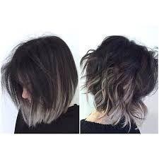 Resultado de imagen para short hair ombre grey