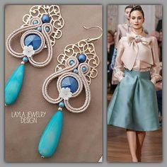 Soutache earrings with Swarovski and #filigree #orecchini #handmade #orecchini #madeinitaly #nausnice #minđuše #uhani #swarovski #pearls #fattoamano#filigree #jewelry #jewels #bijoux #cercei #eyrnalokkar #oorbellen #oorbellen #auskarai #pendientes #brincos #fashion #turquois #turquoisejewelry #jewelrydesign#nakit